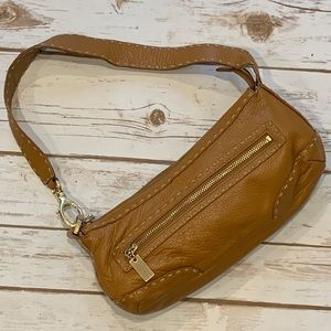 Sigrid Olsen Brown Leather Shoulder Bag Purse